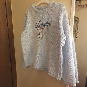 Olaf frozen Sherpa sweatshirt